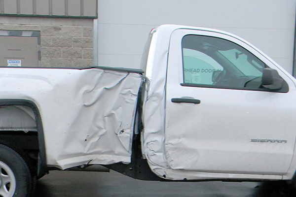 Bodywerks GMC Sierra Auto Body Repair Before